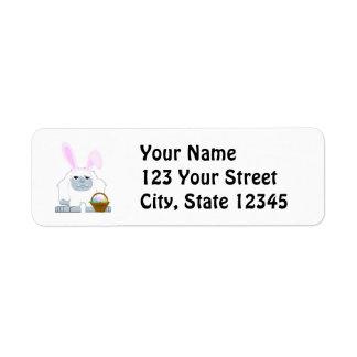 Cute Easter Yeti Label