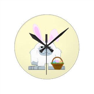 Cute Easter Yeti Round Clock