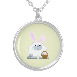 Cute Easter Yeti Silver Plated Necklace