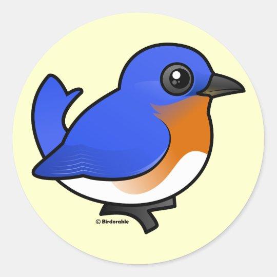 Cute Eastern Bluebird Classic Round Sticker