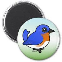 Eastern Bluebird Round Magnet