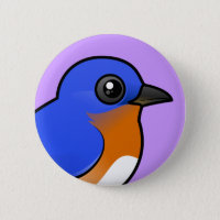 Eastern Bluebird Round Button