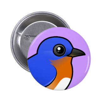 Cute Eastern Bluebird Pinback Button