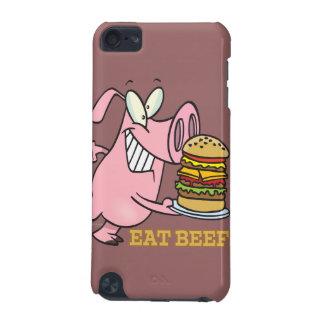 cute eat beef burger piggy pig cartoon iPod touch (5th generation) case