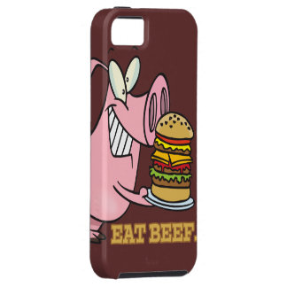 cute eat beef burger piggy pig cartoon iPhone SE/5/5s case