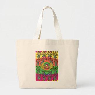 Cute Eat Love Play Hakuna Matata Colors.png Jumbo Tote Bag