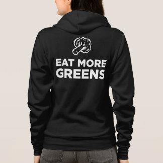Cute Eat More Greens Zip-up Hoodie / Jacket