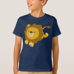 Cute Ecstatic Cartoon Lion Children T-Shirt