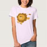 Cute Ecstatic Cartoon Lion Women T-Shirt