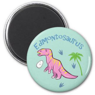 Cute Edmontosaurus 2 Inch Round Magnet