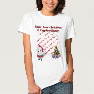 Cute Egg  Santa Claus Photo Frame Tee Shirt