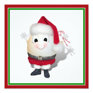 Cute Egg Santa - Eggstrordinary Christmas Custom Invites