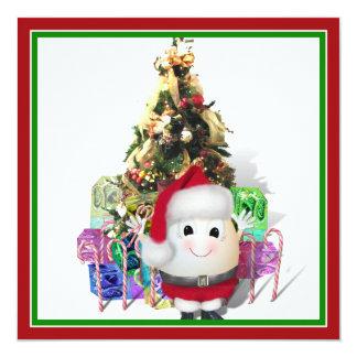 Cute Egg Santa - Eggstrordinary Christmas Invitation