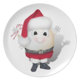 Cute Egg Santa - Eggstrordinary Christmas Plate