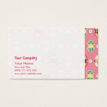 USA Themed Cute eggs pattern business card
