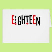 """Cute, """"Eighteen"""" design Card"""