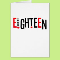 "Cute, ""Eighteen"" design Card"
