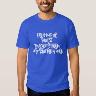 cute electrician deep royal t-shirt
