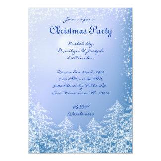 CUTE Elegant Blue Mountain sky Christmas Invite