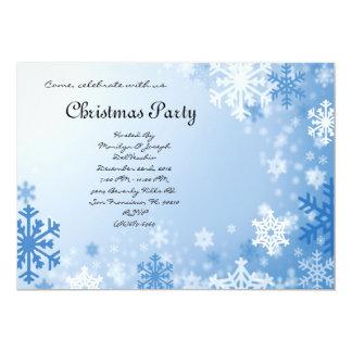 CUTE Elegant Blue Winter Christmas Invite