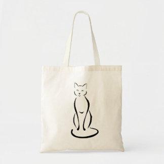 Cute Elegant Cat Tote Bag