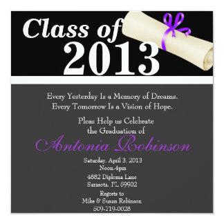 Cute Elegant Graduation Announcement/Invitation