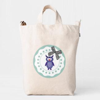 Cute elegant trendy girly cartoon owl duck bag