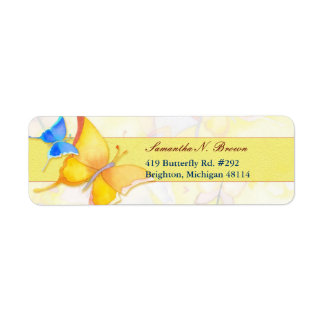Cute Elegant Watercolor Butterfly Business Label