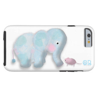 Cute elephant and mouse iphone6 case by OR Designs Tough iPhone 6 Case