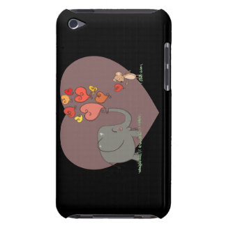 cute elephant and mouse valentine love vector Case-Mate iPod touch case