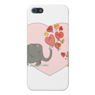 cute elephant and mouse valentine love vector cases for iPhone 5