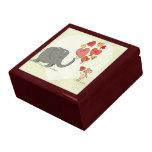 cute elephant and mouse valentine love vector II Keepsake Box