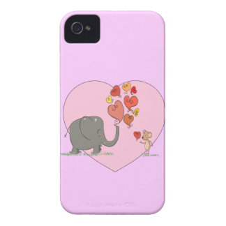 cute elephant and mouse valentine love vector iPhone 4 Case-Mate case