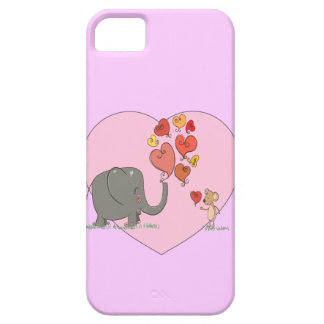 cute elephant and mouse valentine love vector iPhone 5 cover
