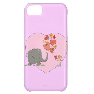 cute elephant and mouse valentine love vector iPhone 5C covers