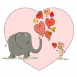 cute elephant and mouse valentine love vector photo cutout