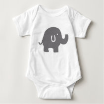 Cute Elephant Baby Bodysuit
