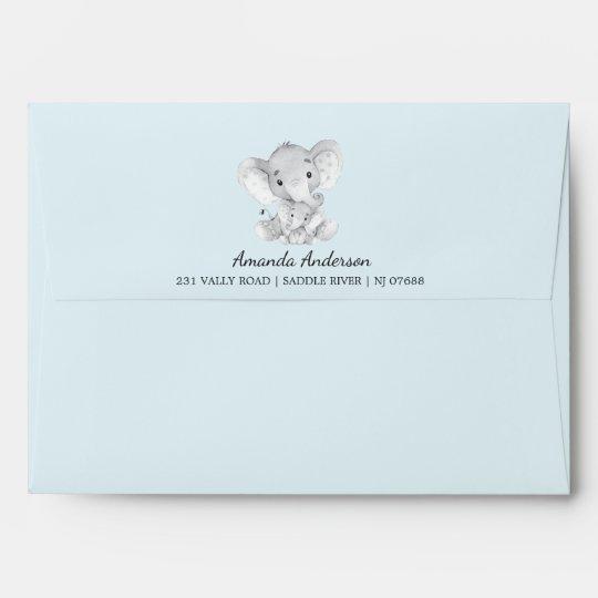 Cute Elephant Baby Shower Invitation Envelope Zazzle Com
