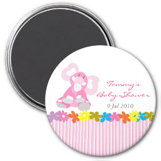 Cute Elephant Baby Shower Magnet - Customizable