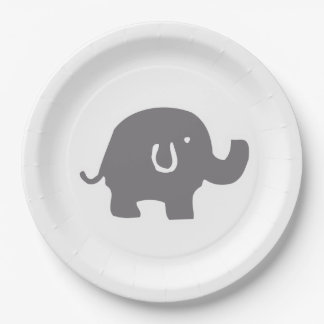 Cute Elephant Baby Shower Paper Plates