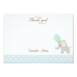 Cute Elephant Baby Shower Thank You Card