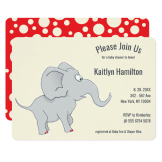 Cute Elephant | Baby Shower To Honor the  New Mom Card