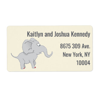 Cute Elephant | Baby Shower To Honor the New Mom Label