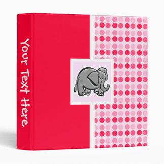 Cute Elephant 3 Ring Binder