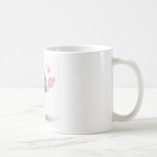 cute elephant blowing pink bubbles mug