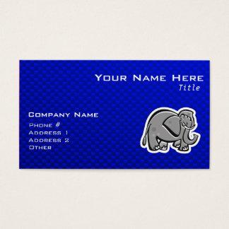 Cute Elephant; Blue Business Card