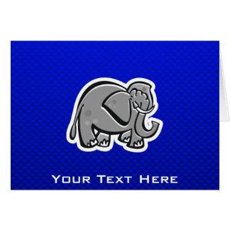 Cute Elephant; Blue Card