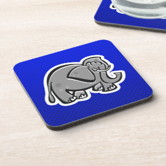 Cute Elephant; Blue Coaster