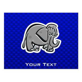 Cute Elephant; Blue Postcard