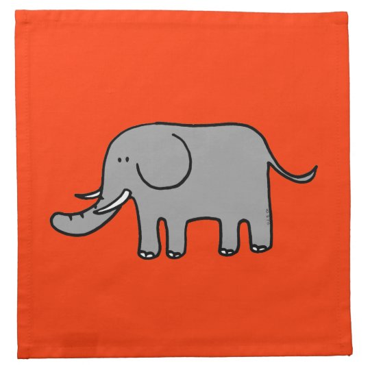 Cute elephant cloth napkin